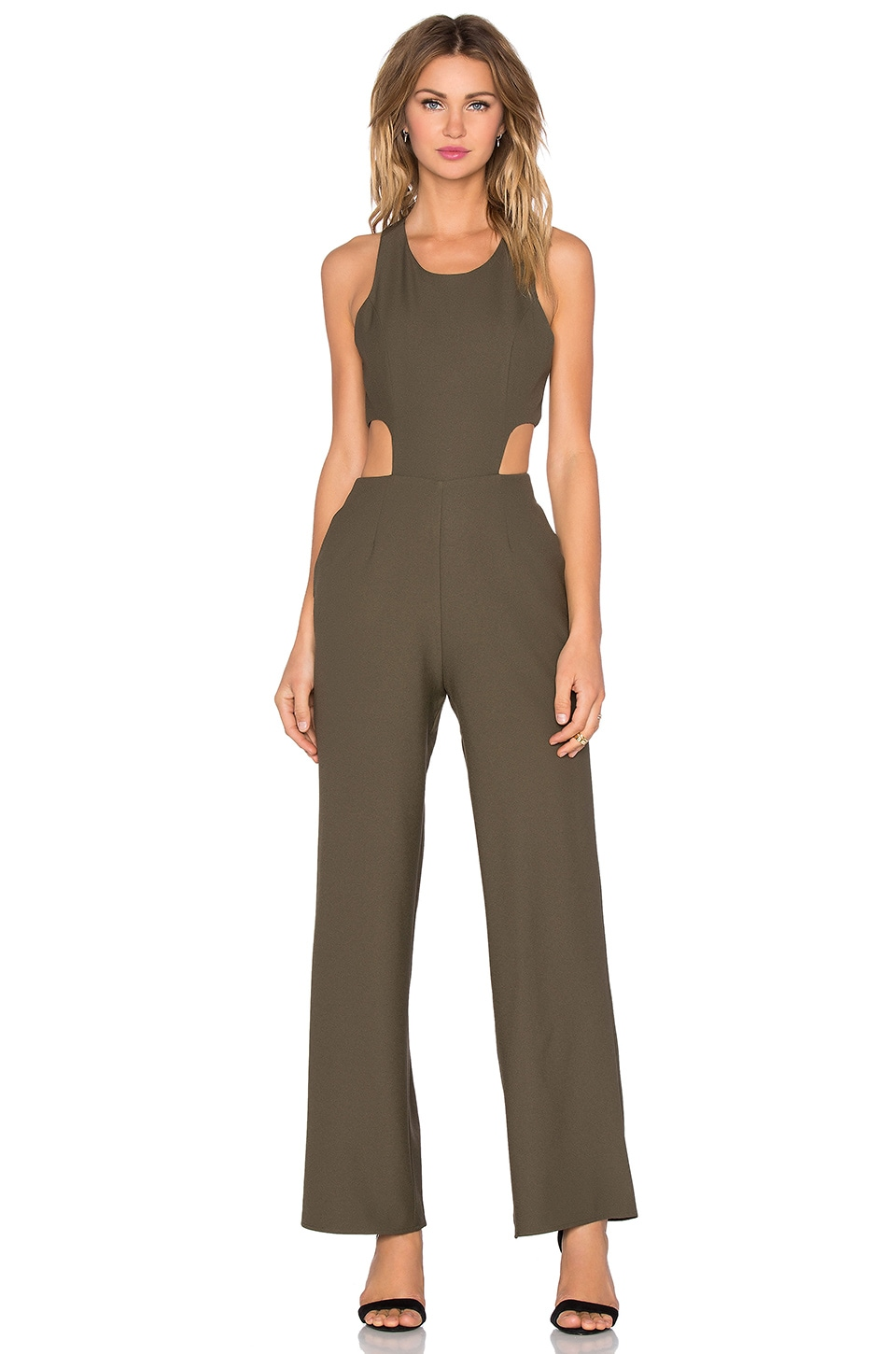 NBD x REVOLVE Use To Jumpsuit in Army Green