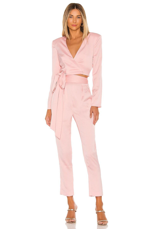 NBD Rowen Wrap Top in Ballet Pink