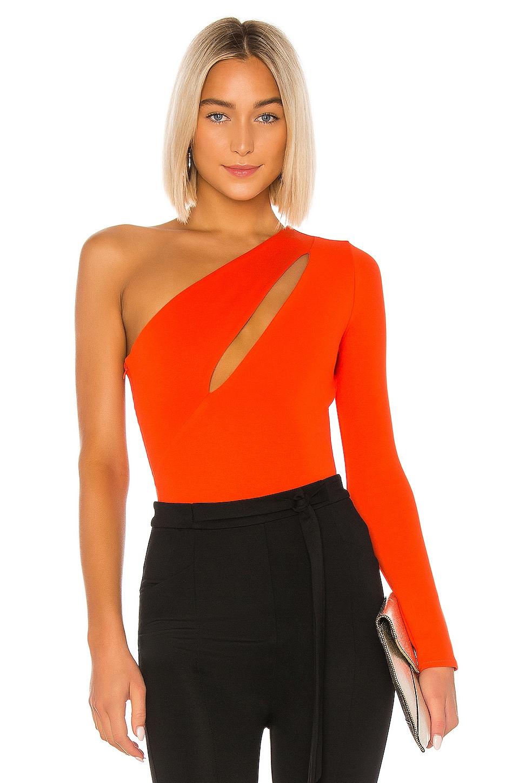 NBD Aaliyah Bodysuit in Red Orange
