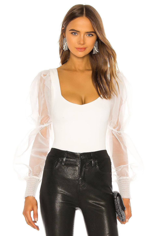 NBD Blaine Bodysuit in White