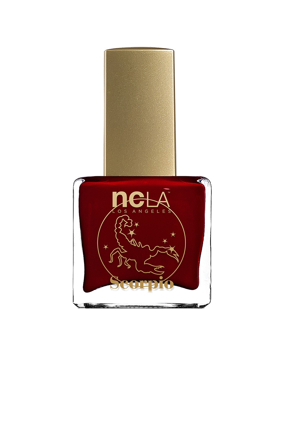 NCLA What's Your Sign? Scorpio Lacquer in Dark Burgundy Cream