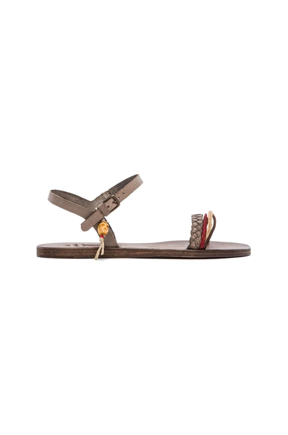 n.d.c . Jelena Leather Sandal in Taupe