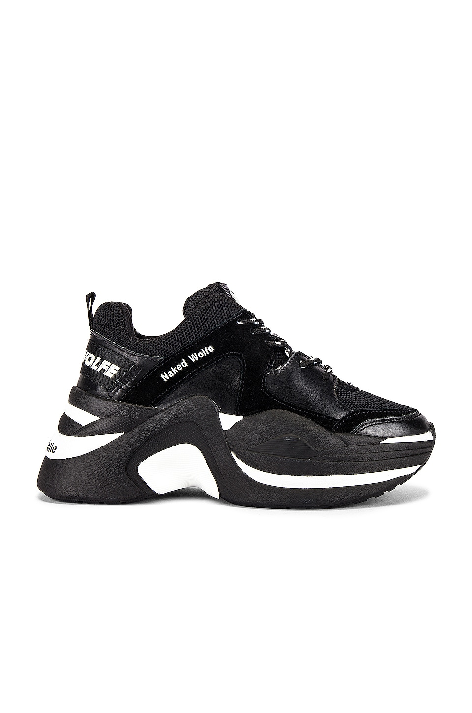 Naked Wolfe Track Sneaker in Double Black