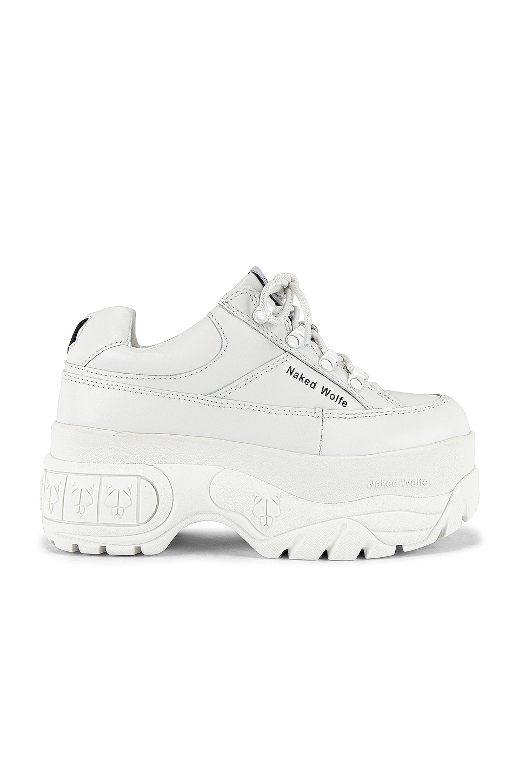 Naked Wolfe Sporty Sneaker in White