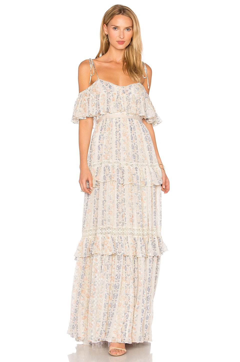 Floral Stripe Maxi Dress by Needle & Thread