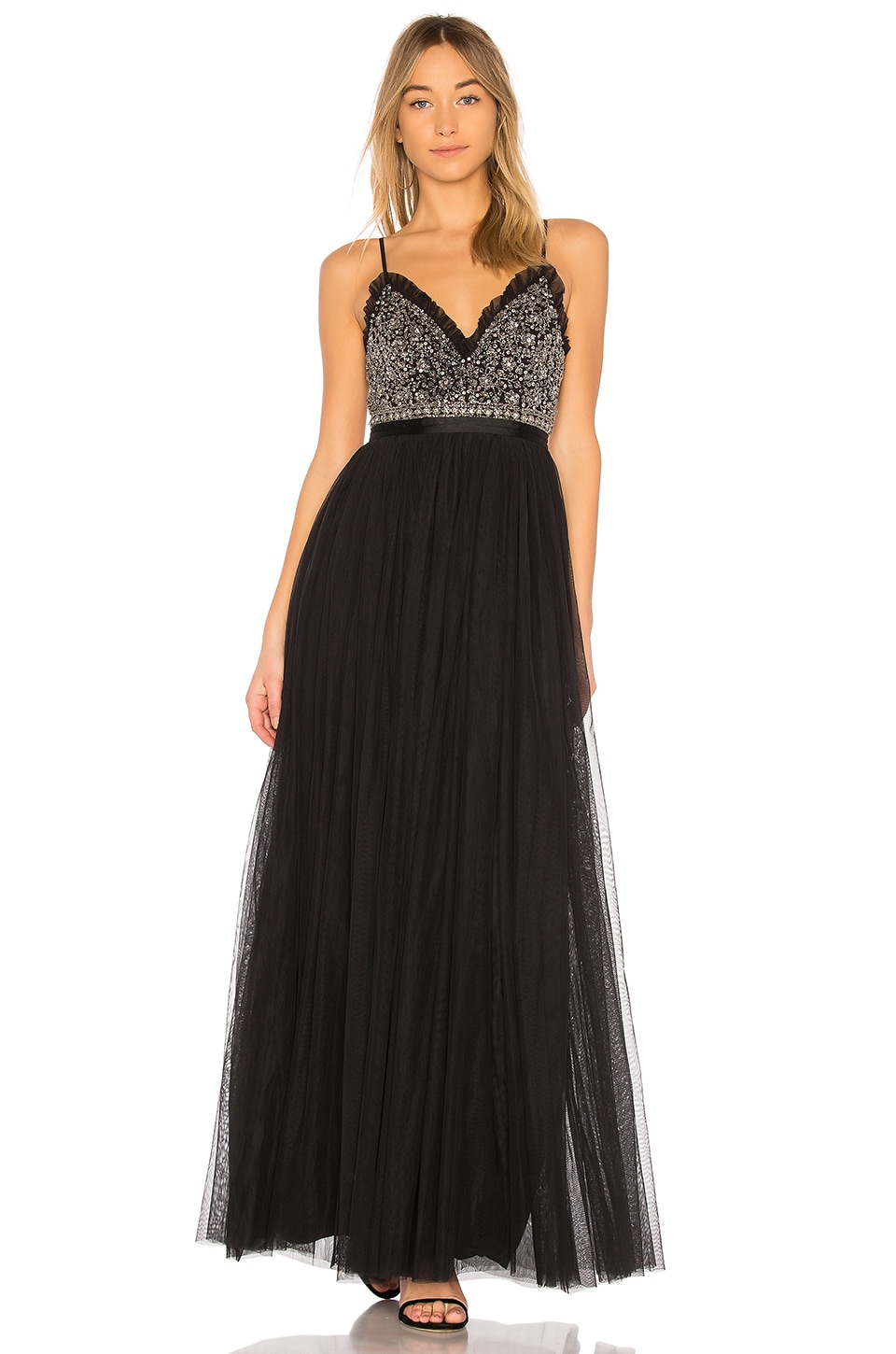 7a86aaf70fe Needle   Thread Andromeda Maxi Dress in Washed Black
