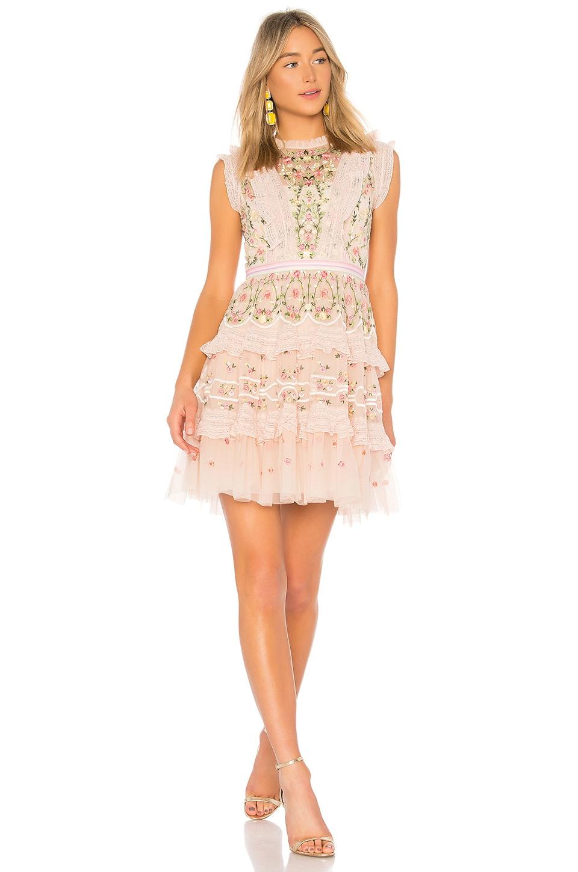 Lattice Rose Mini Dress