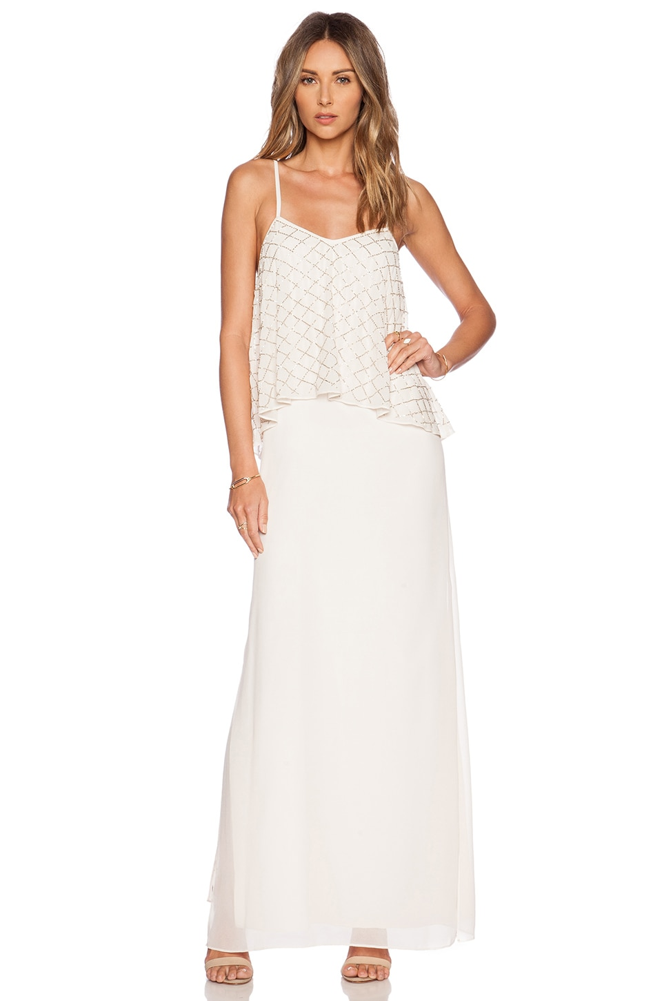Tiered Geo Maxi Dress by Needle & Thread