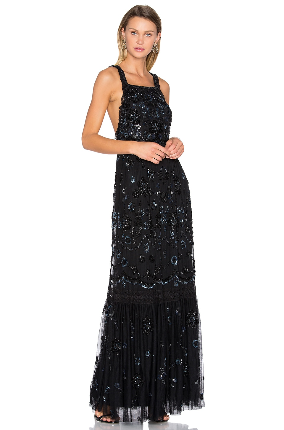 Embellished Bib Gown by Needle & Thread