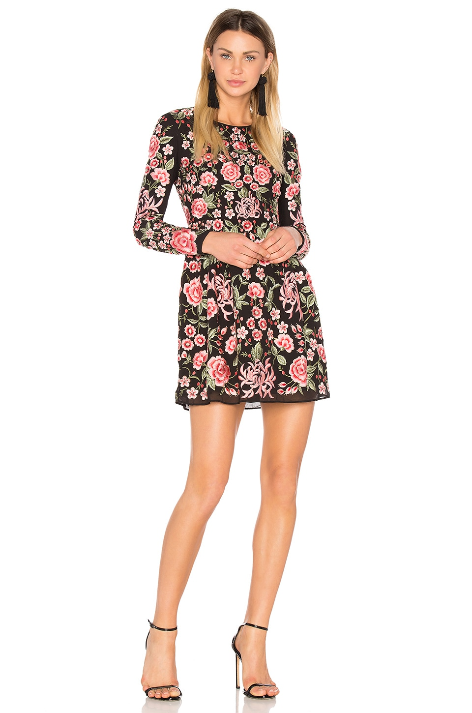 Embroidery Rose Prom Dress