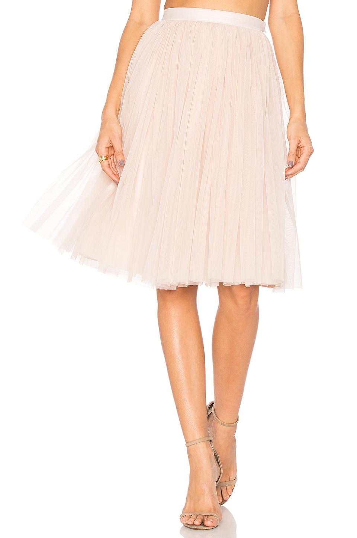 Needle & Thread Tulle Midi Skirt in Petal Pink