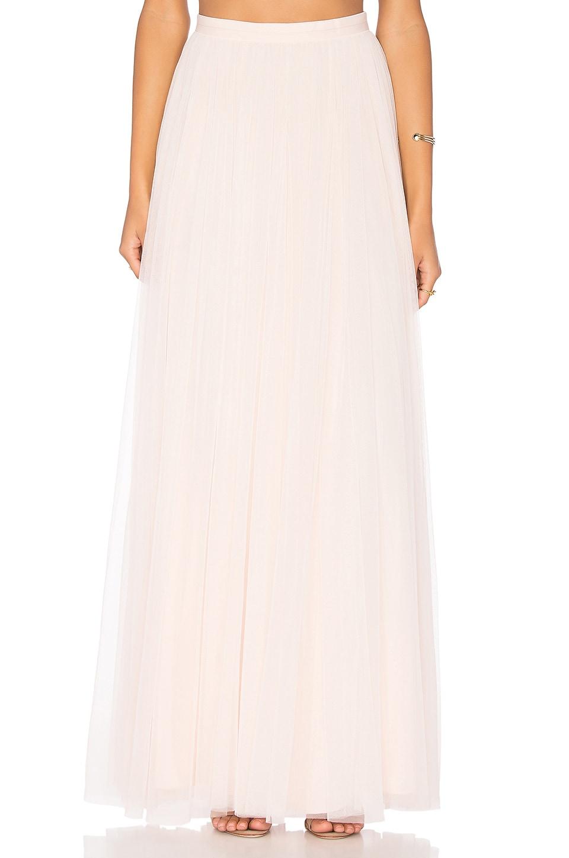 needle thread tulle maxi skirt in ballet pink revolve