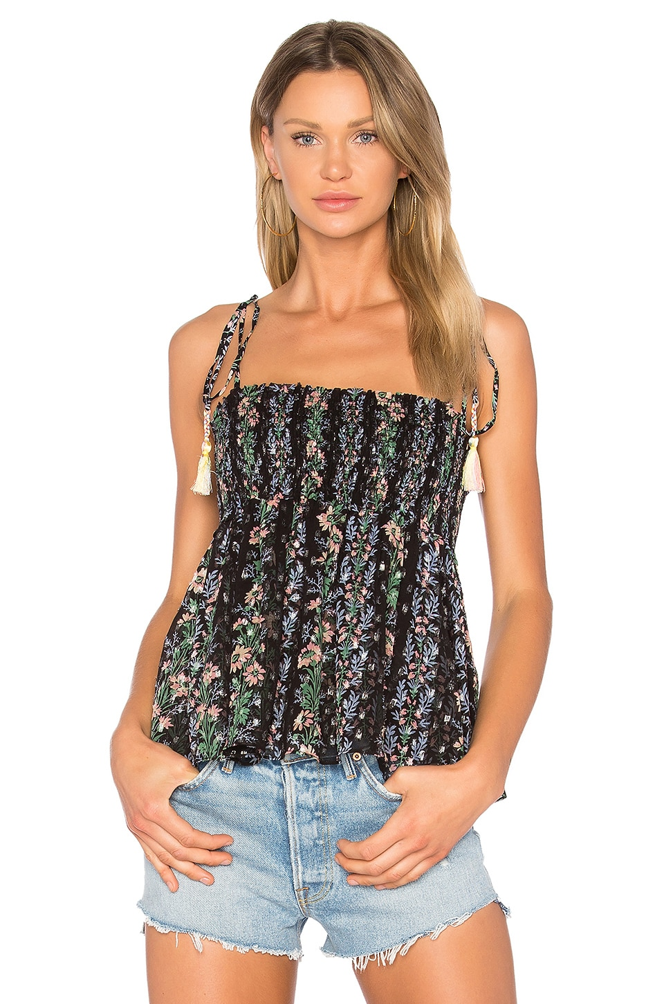 Floral Stripe Tie Top by Needle & Thread