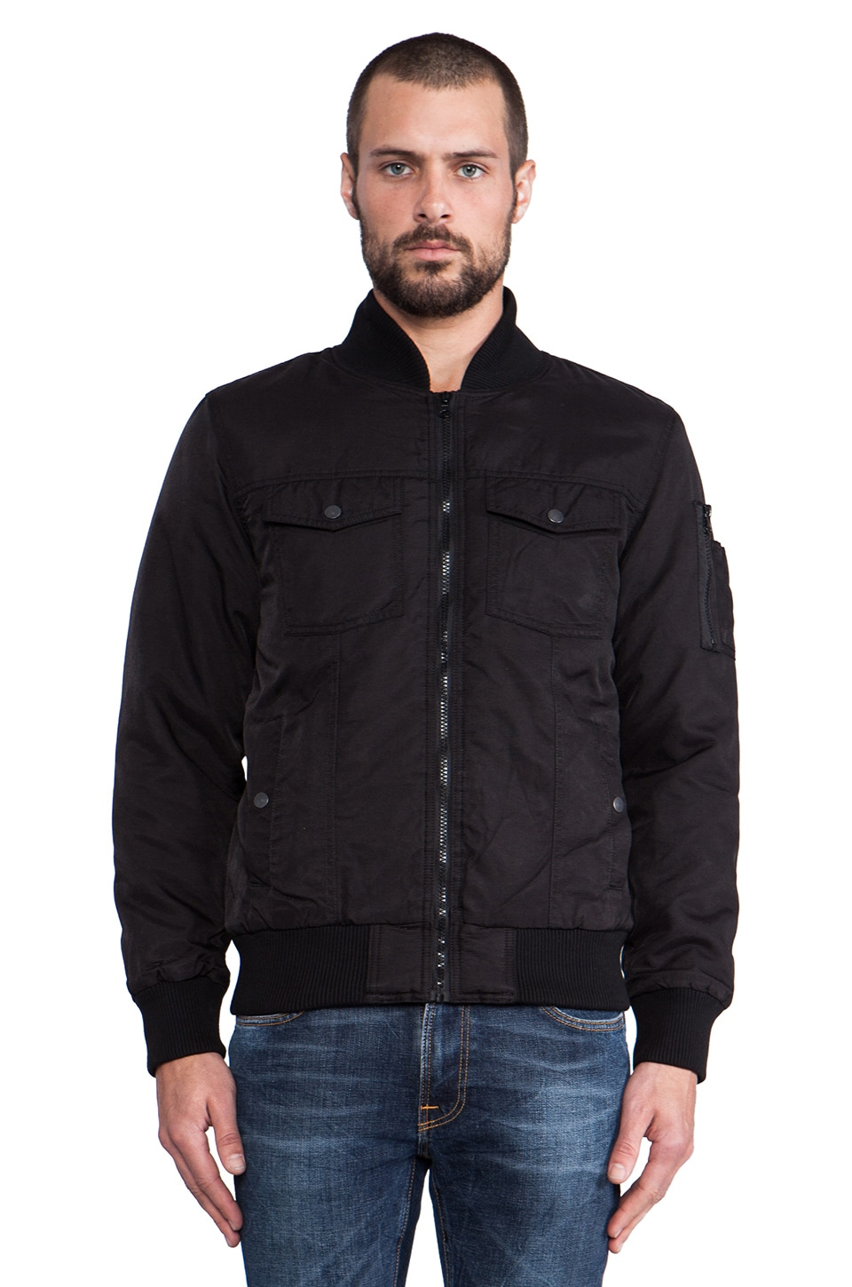 NEUW Rocker Bomber Jacket in Black
