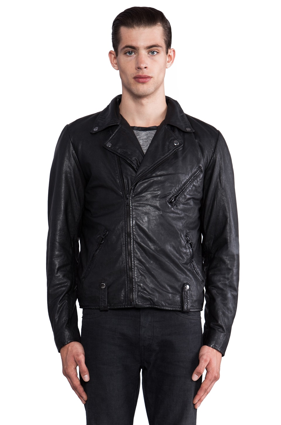 NEUW Perfect Jacket Leather Jacket in Black
