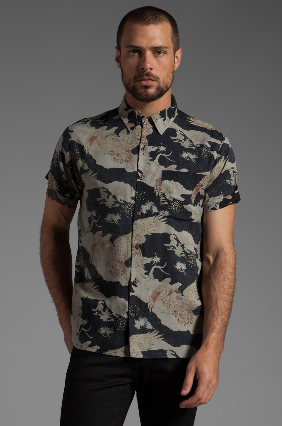 NEUW Desert Eagel Shirt in Black