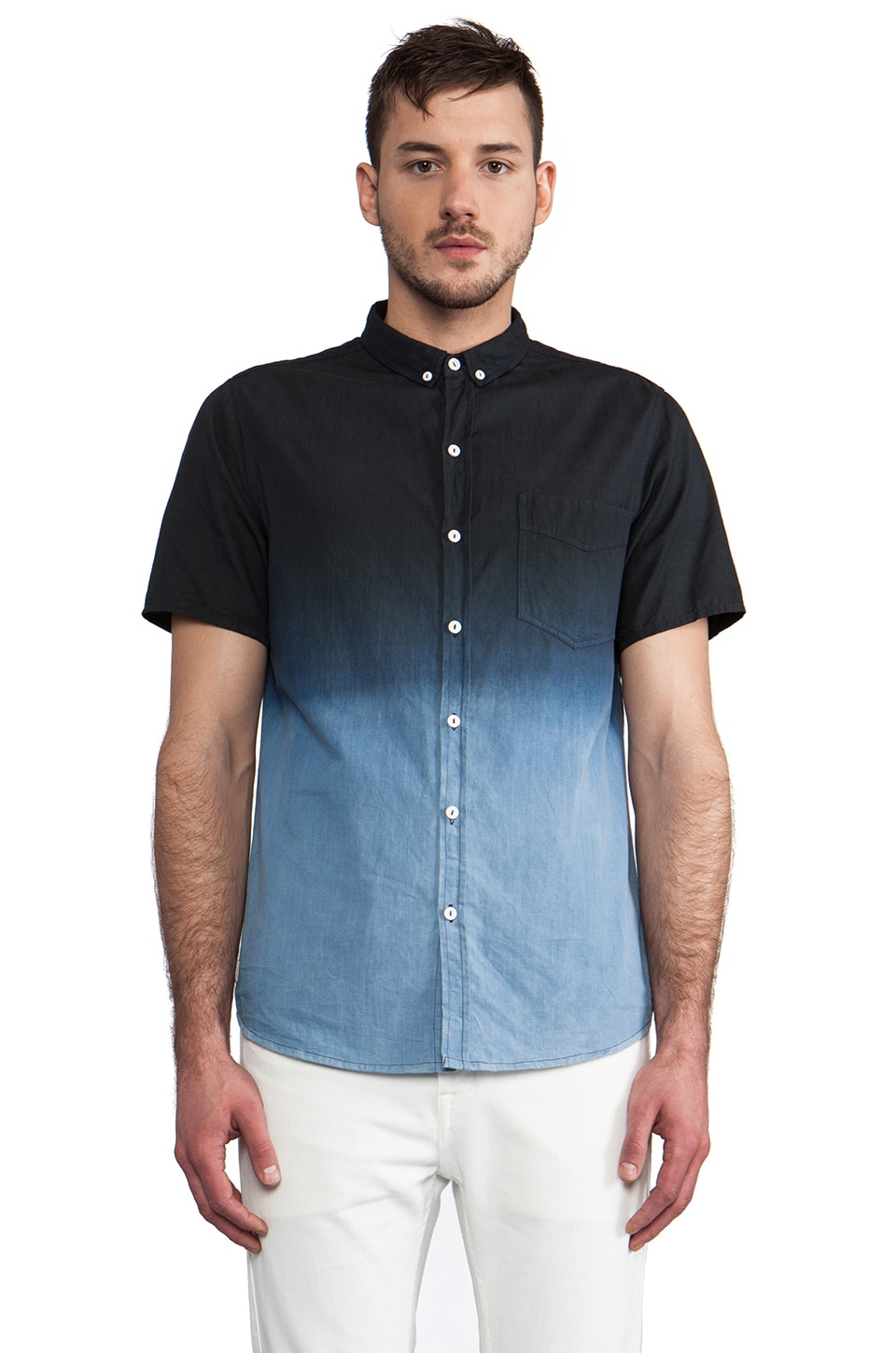 NEUW Ren Bleach Shirt in Indigo