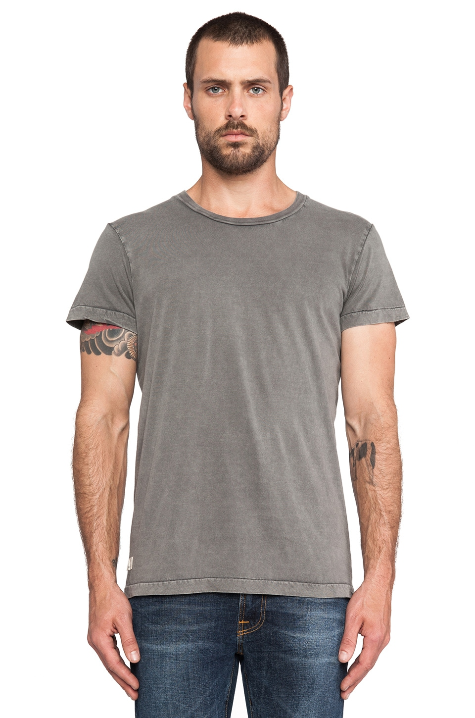 NEUW 3 Crown Enkel Service Tee in Grey