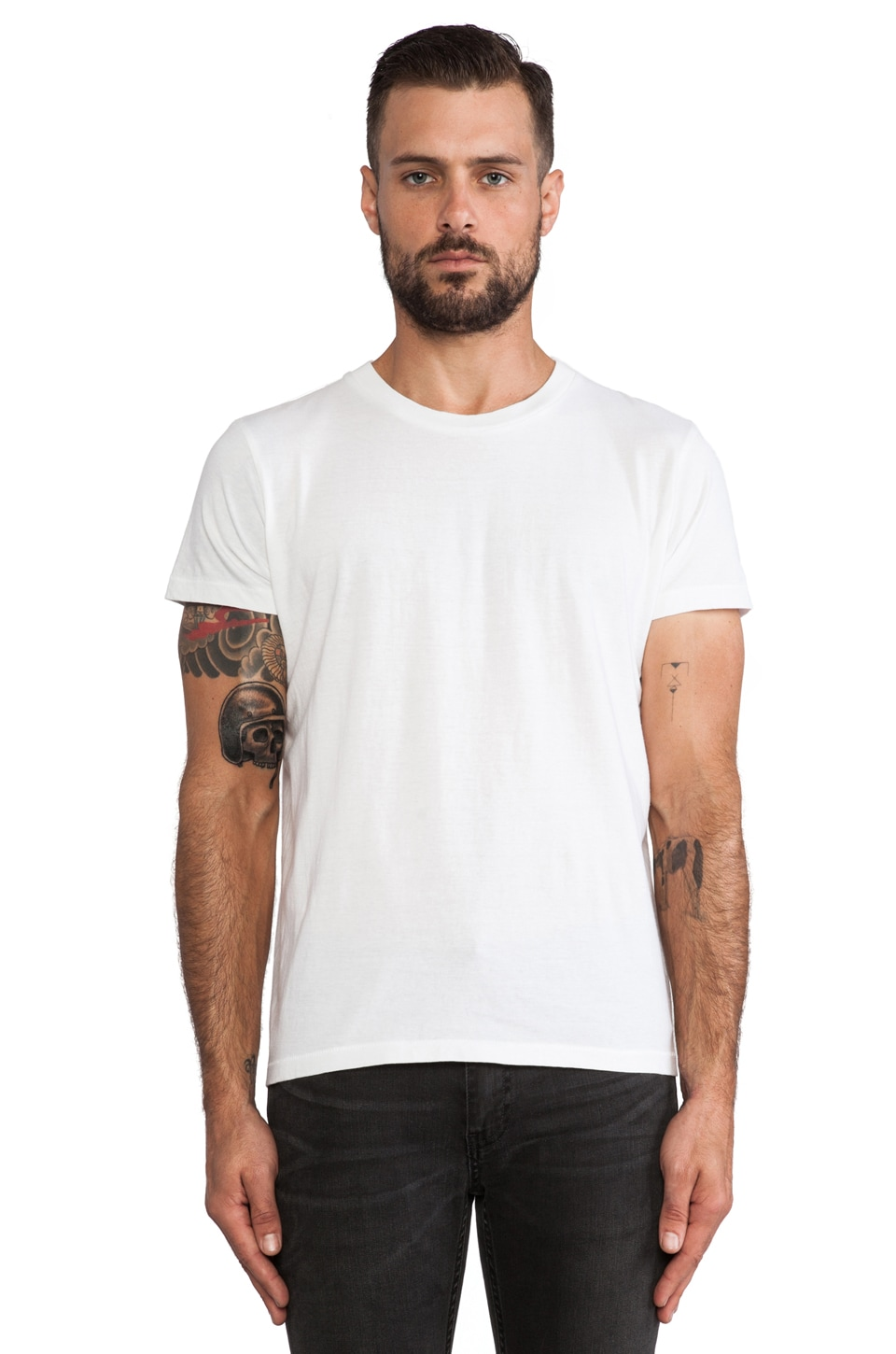 NEUW 3 Crown Enkle Service Tee in White
