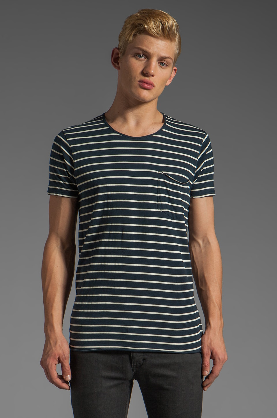 NEUW Enkel Pocket Tee in Navy