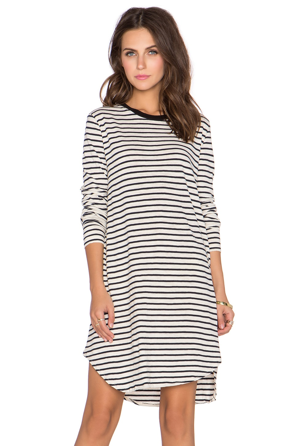NEUW Striped Rebel Dress in White & Indigo