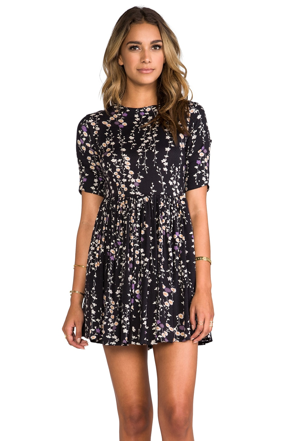 NEUW Victoria Sundress in Black Floral