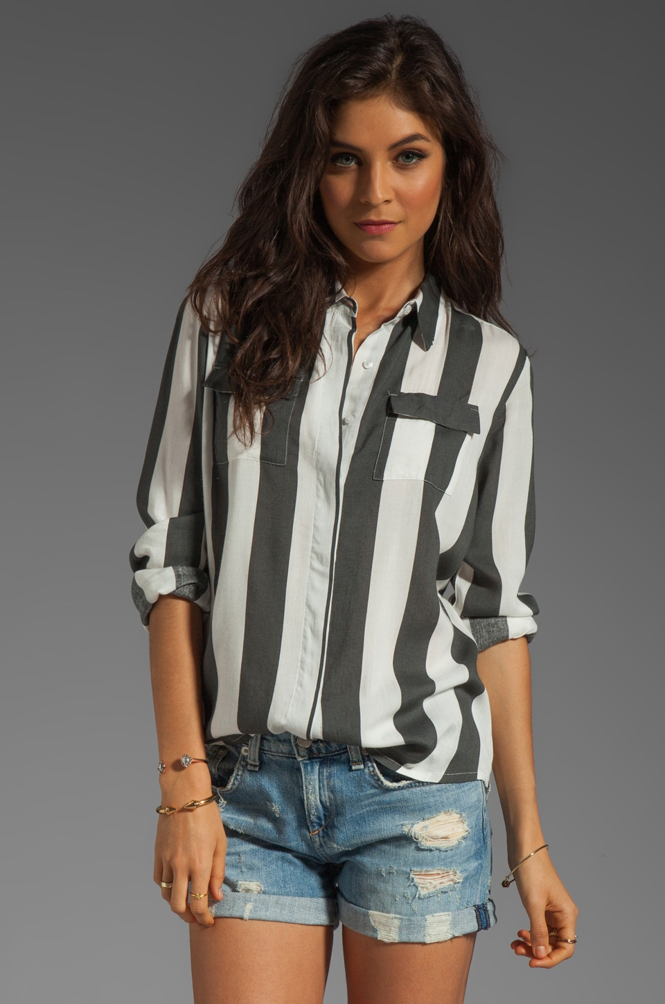 NEUW Daphne Shirt in Black/White