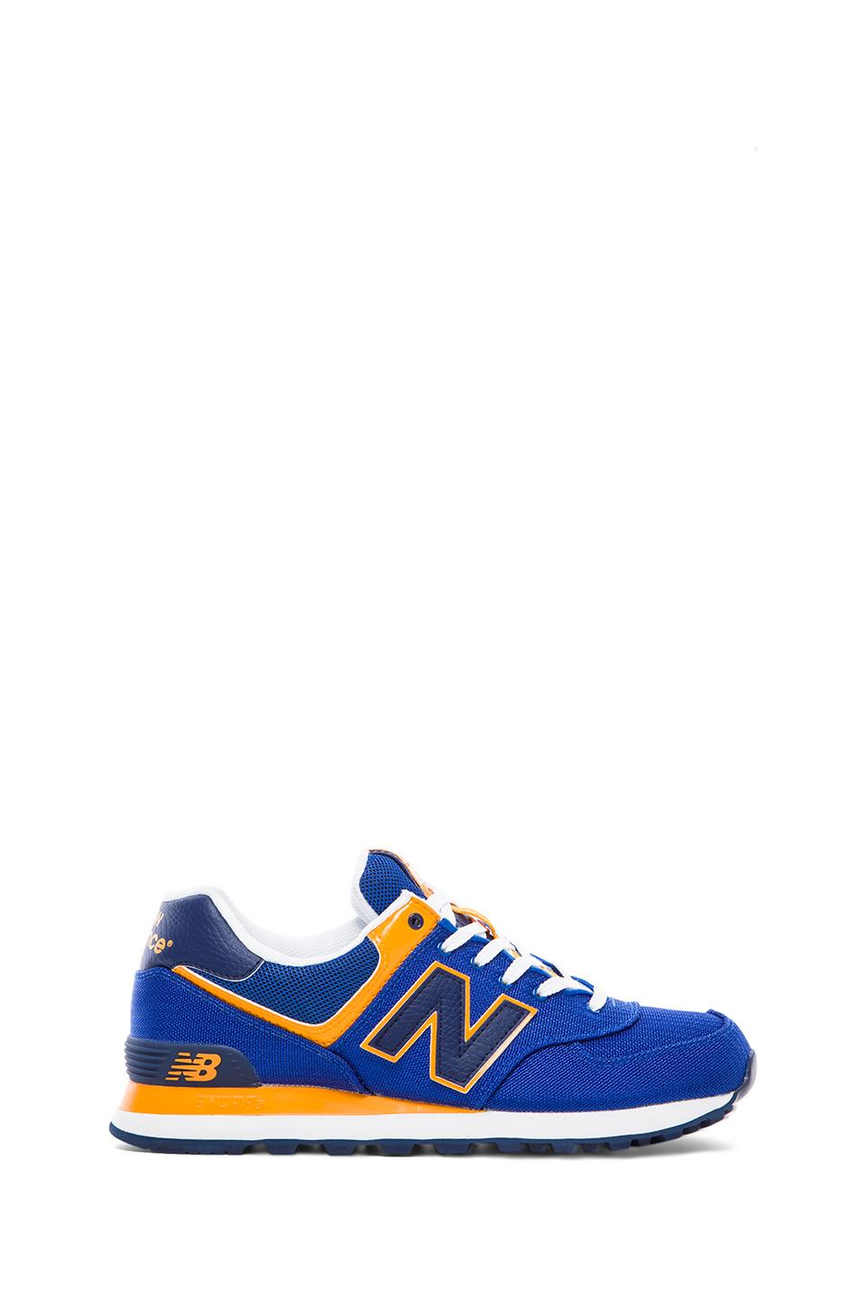 New Balance Passport ML574 in Blue & Yellow