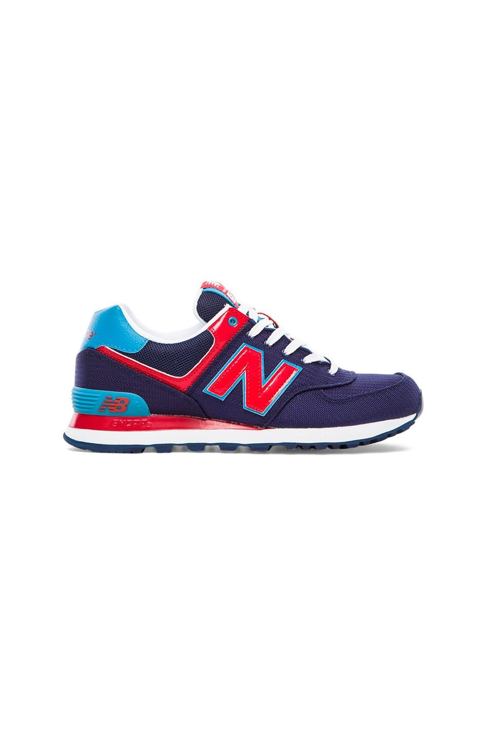 New Balance Passport ML574 in Blue & Red