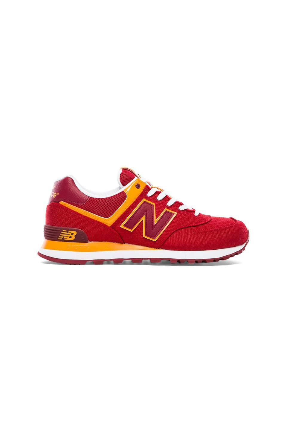 New Balance Passport ML574 in Red