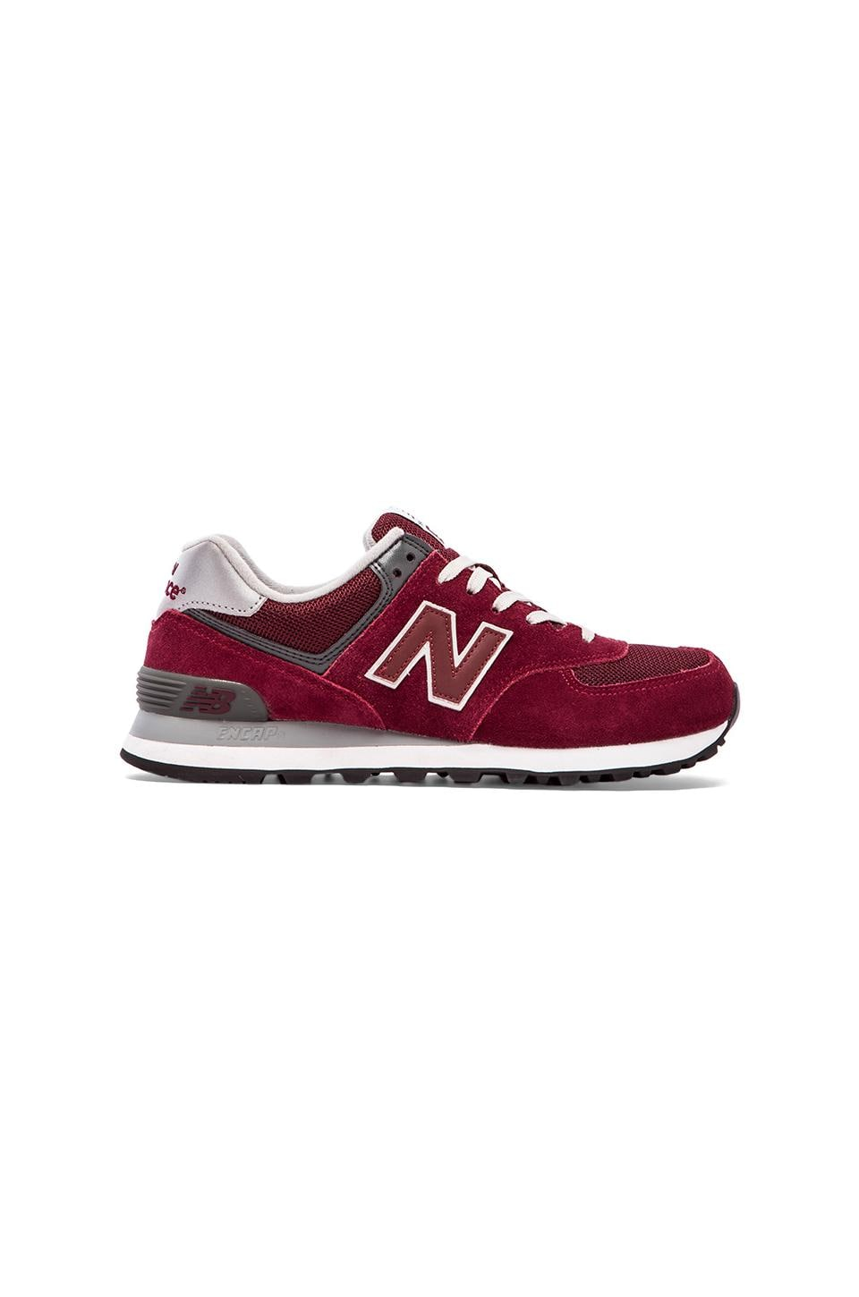 New Balance M574 in Burgundy