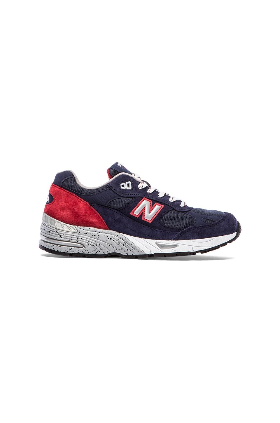 New Balance Made in USA M991 in Navy & Red