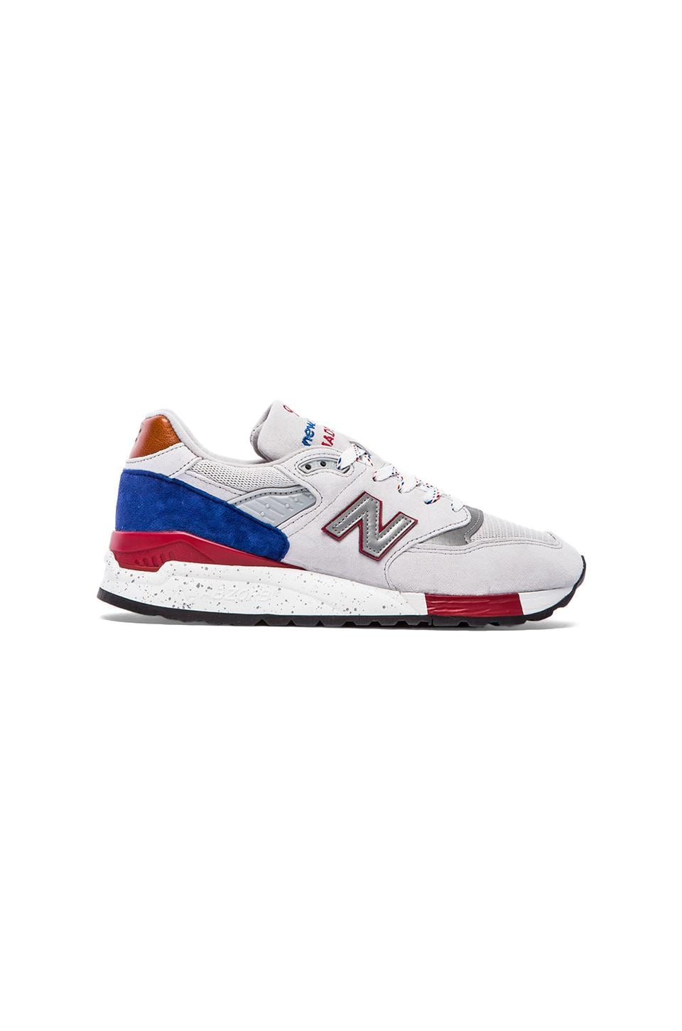 New Balance Made in USA M998 in Grey & Blue & Red