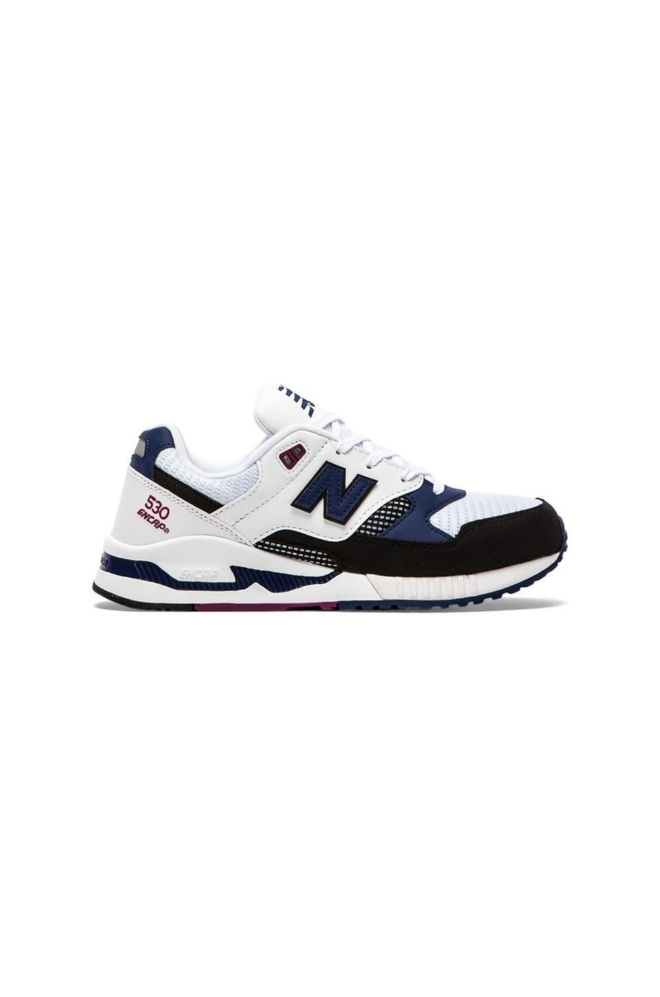 New Balance M530 in White/Black
