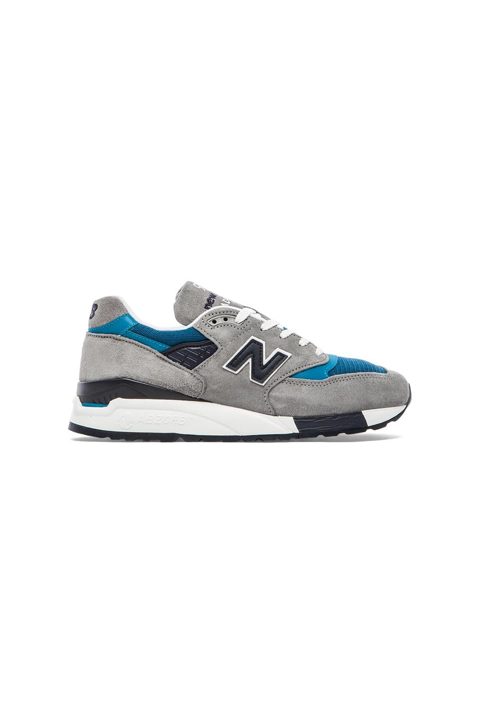 New Balance Made in USA M998 in Grey/Blue