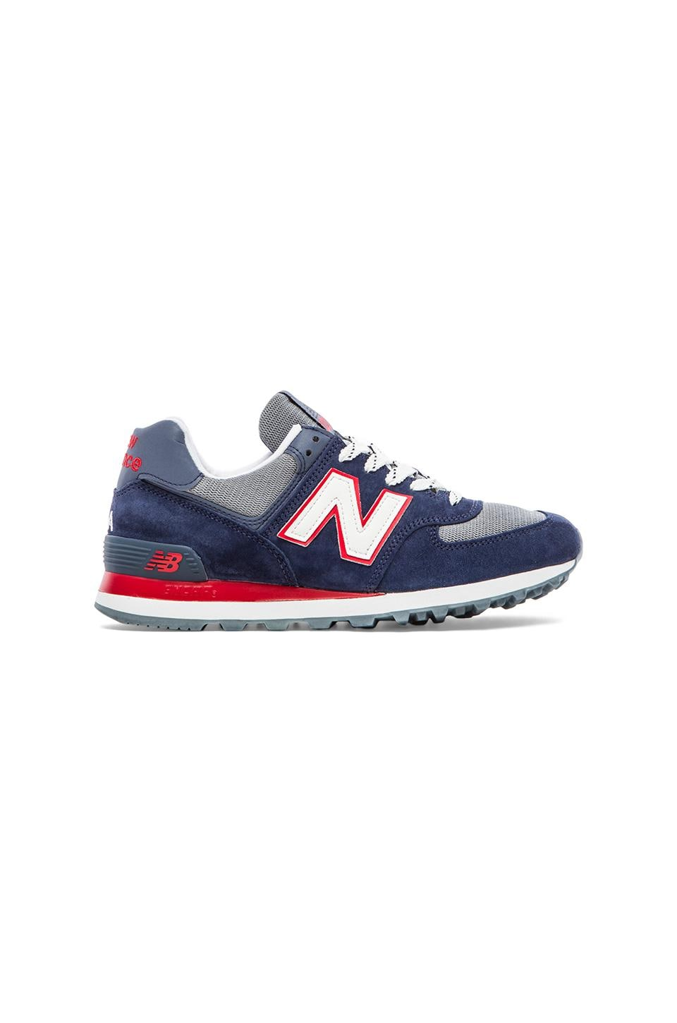 New Balance Made in USA US574 in Blue/Red
