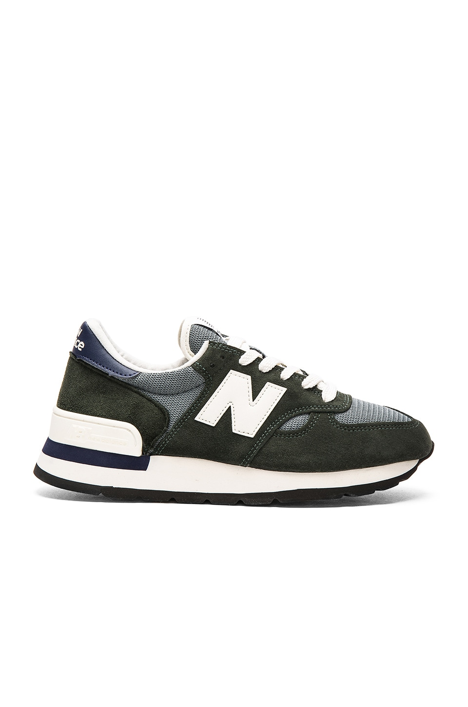 New Balance Made in USA M990 in Green Navy
