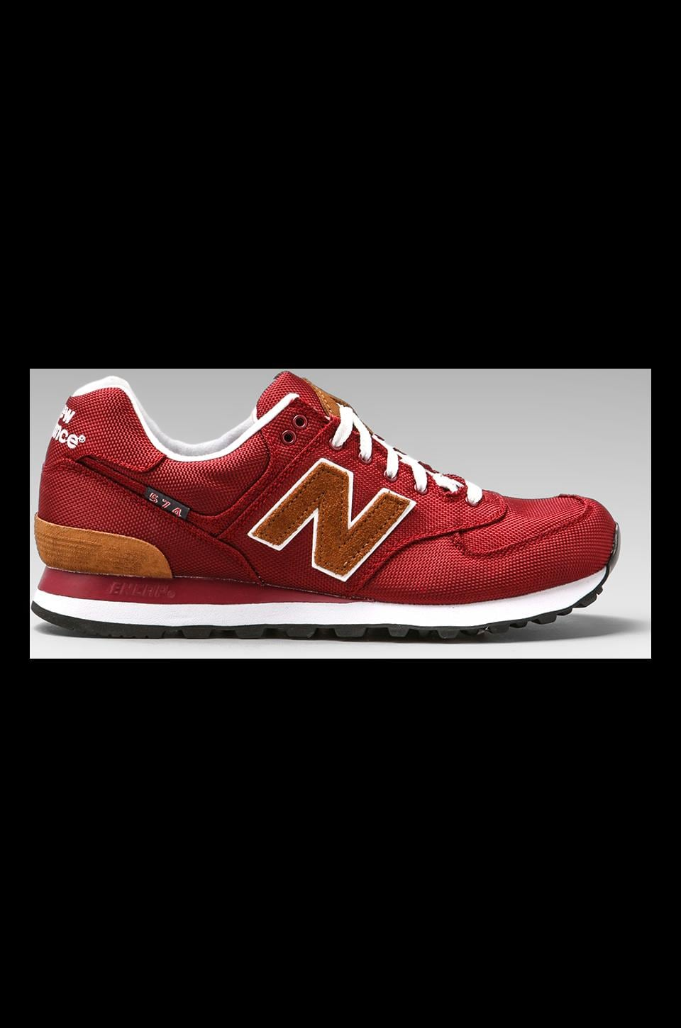 New Balance ML574 in Maroon w/ Brown