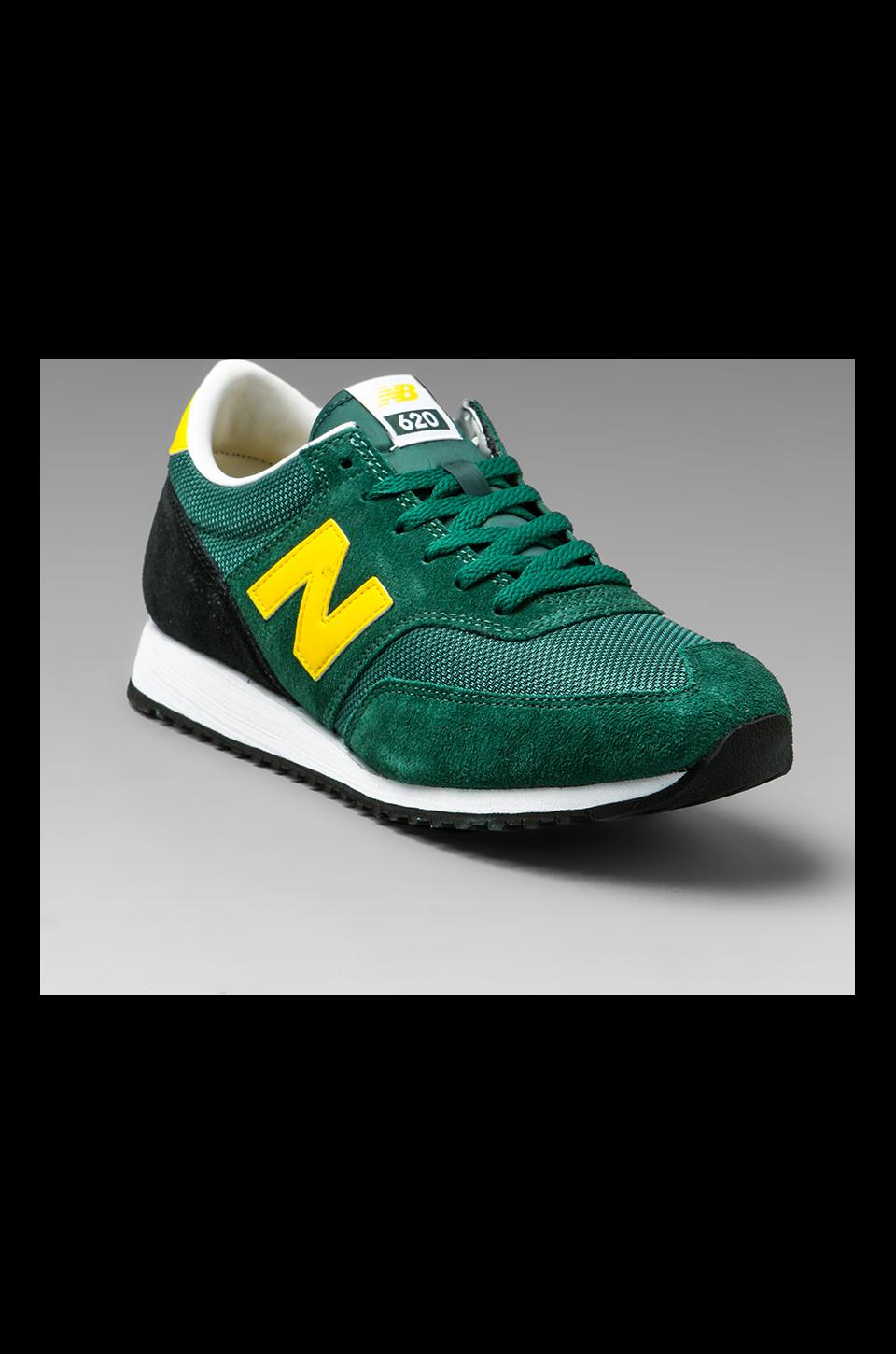 New Balance Classic CM620 Suede/Mesh in Green/Yellow/Black