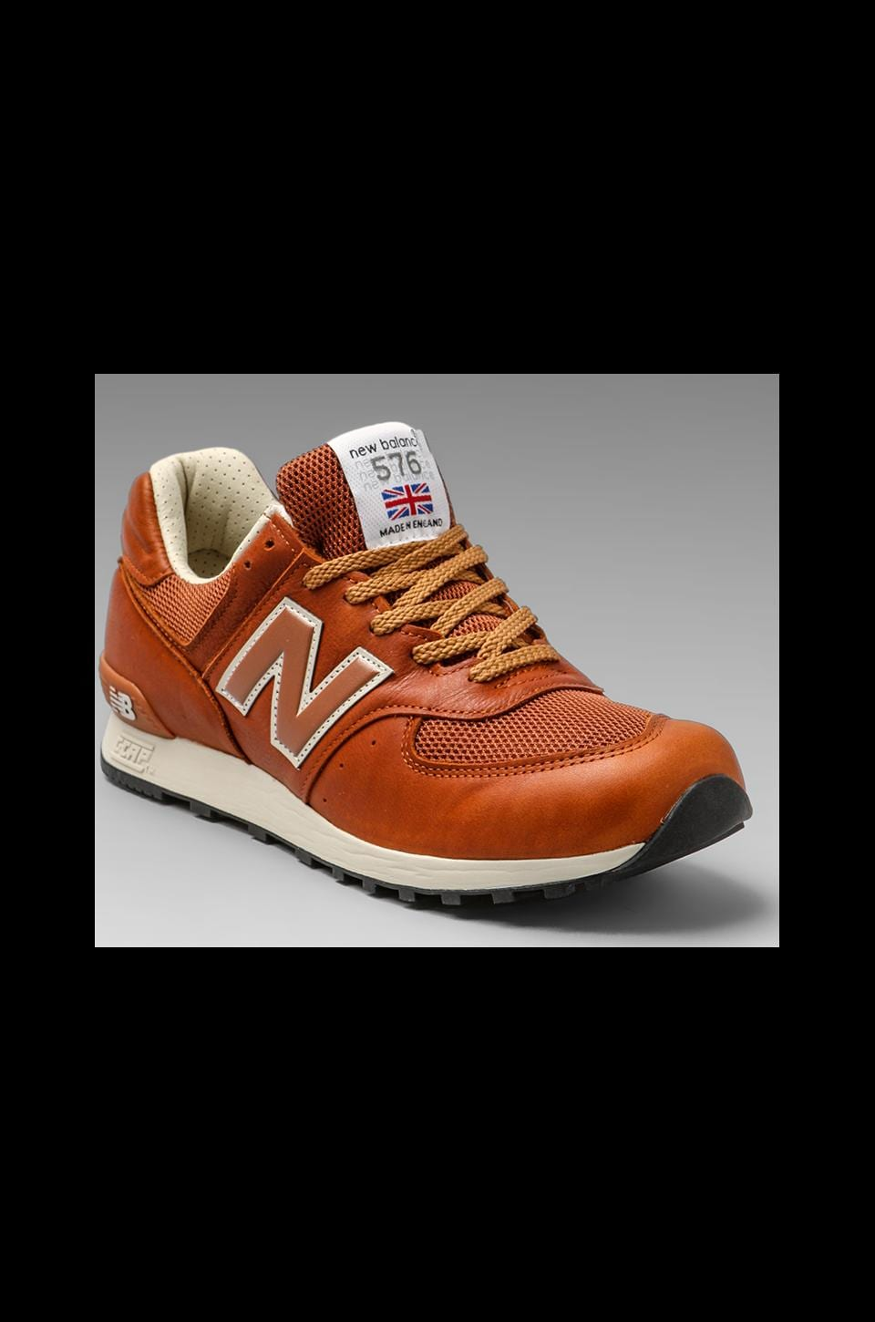 New Balance Made in England M576 Premium Leather in Tan