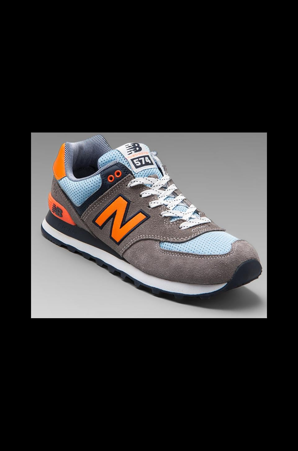 New Balance Yacht Club ML574 in Grey/Orange