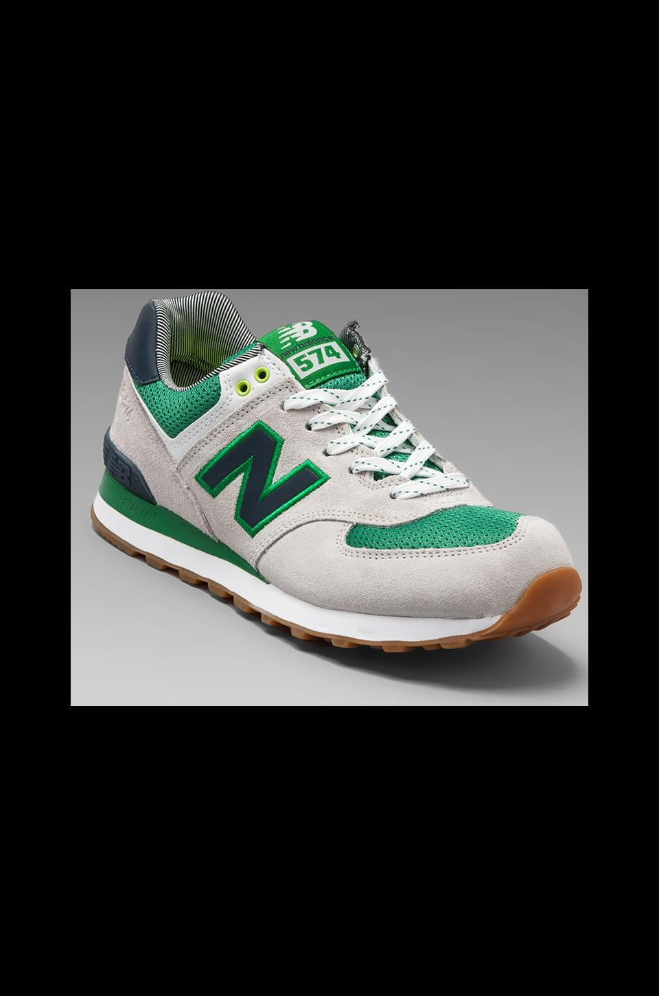 New Balance Yacht Club ML574 in Grey/Green/Navy