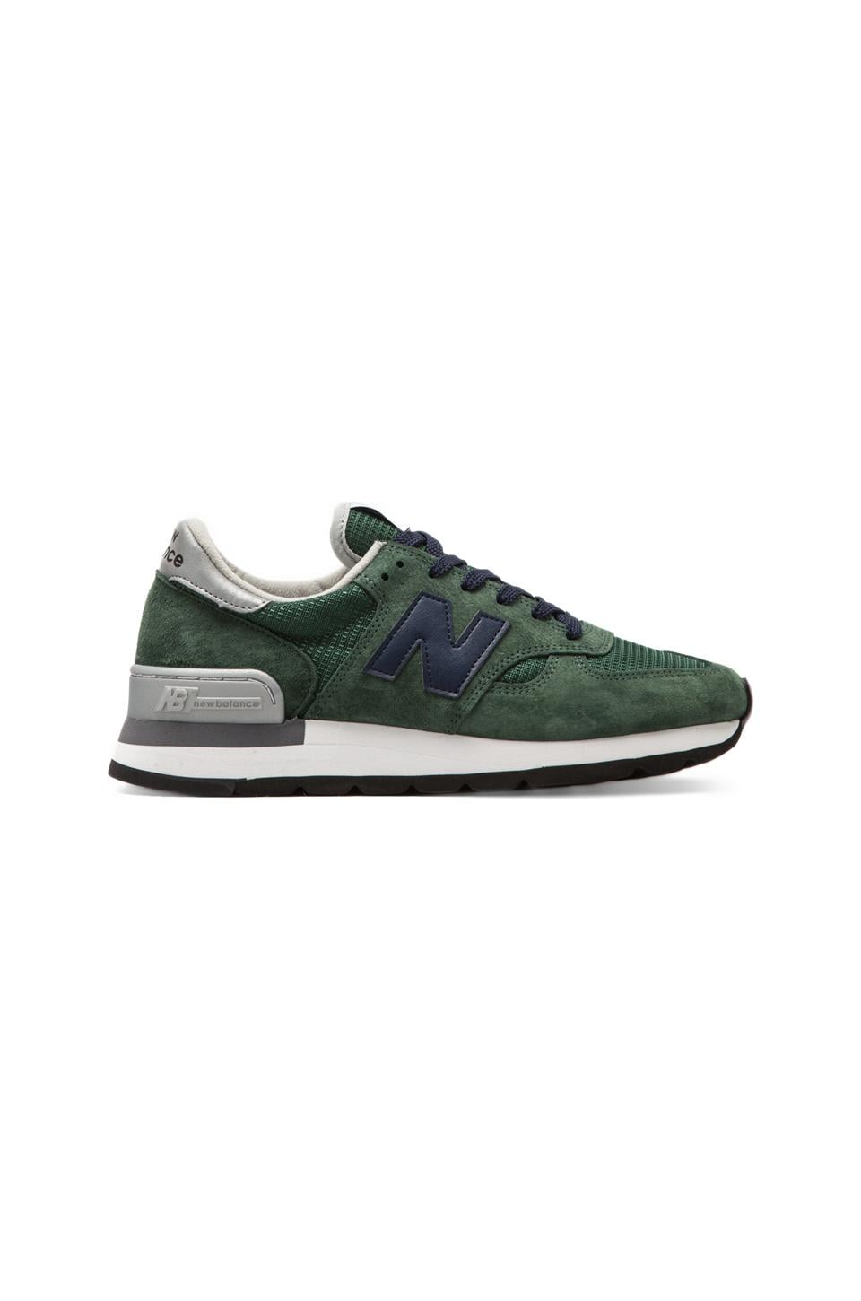 New Balance Made in the USA M990 in Green/Navy