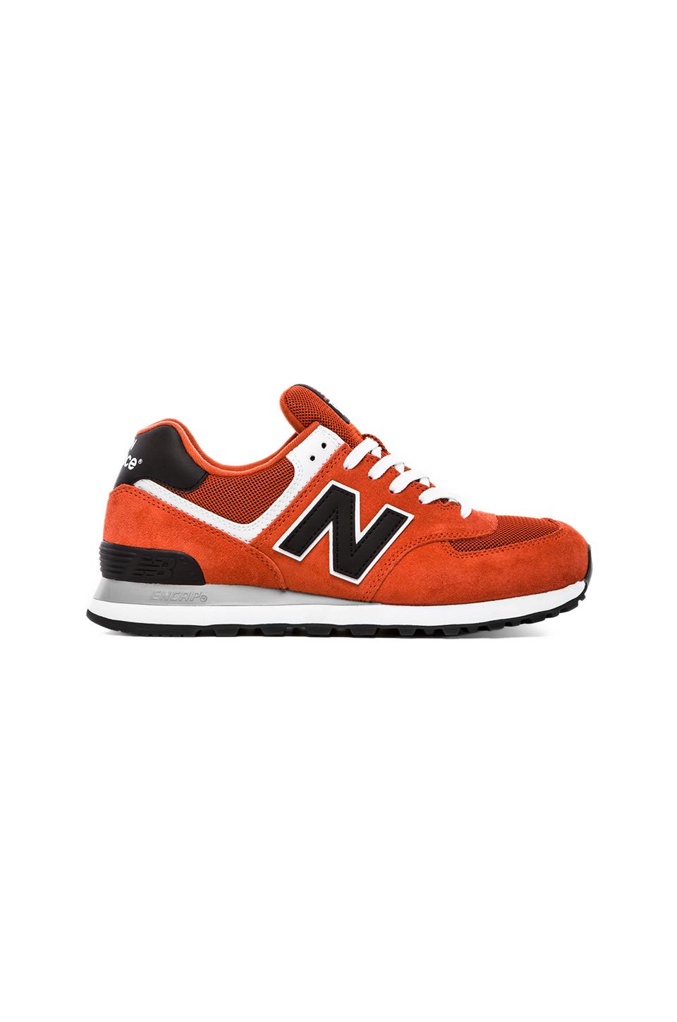 New Balance Varsity ML574 Suede in Orange