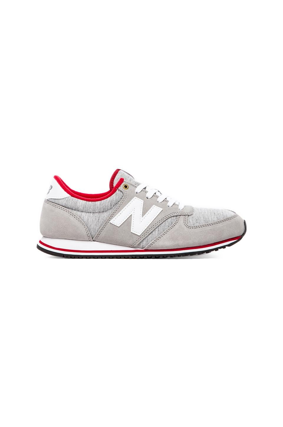 New Balance U420 in Grey Suede & Textile