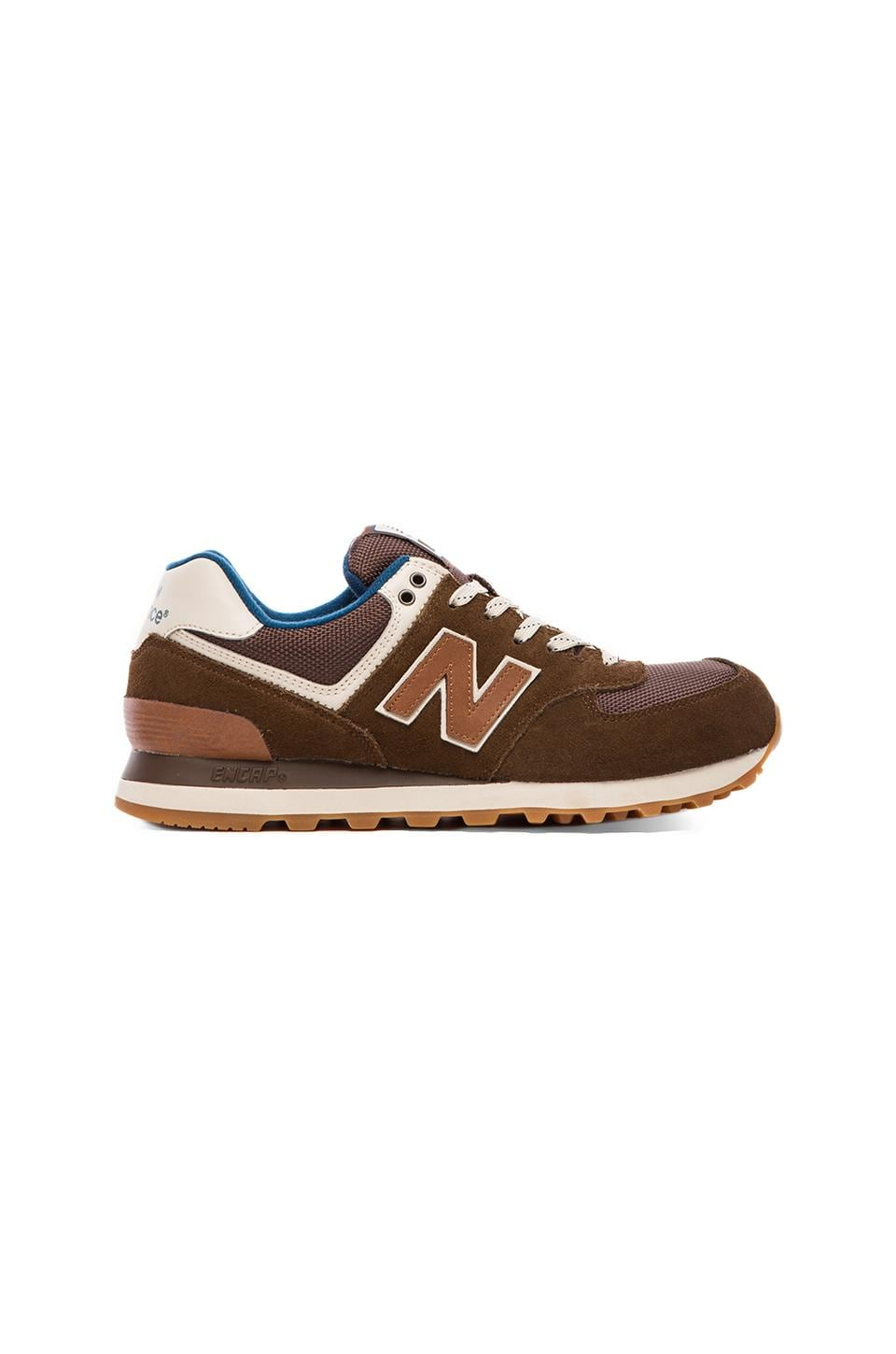 New Balance ML574 in Brown & Navy