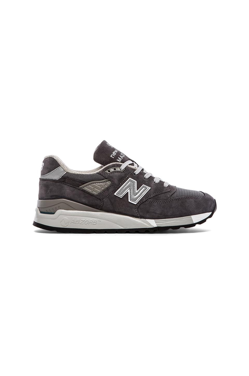 New Balance Made in USA M998 in Charcoal Suede
