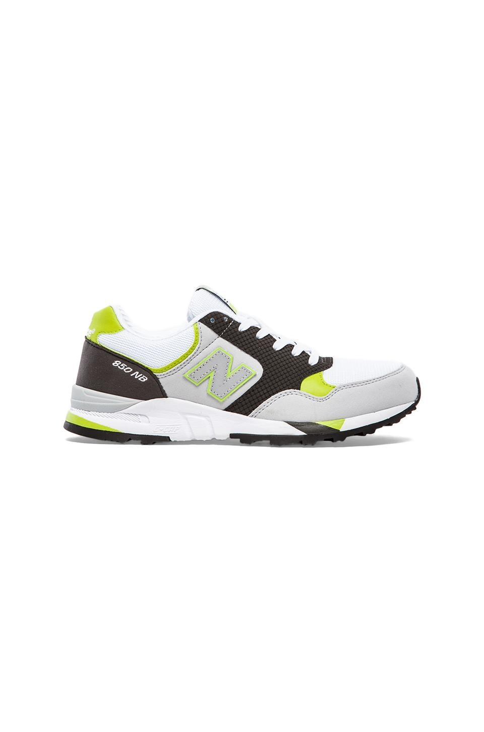 New Balance M850 in White/Green