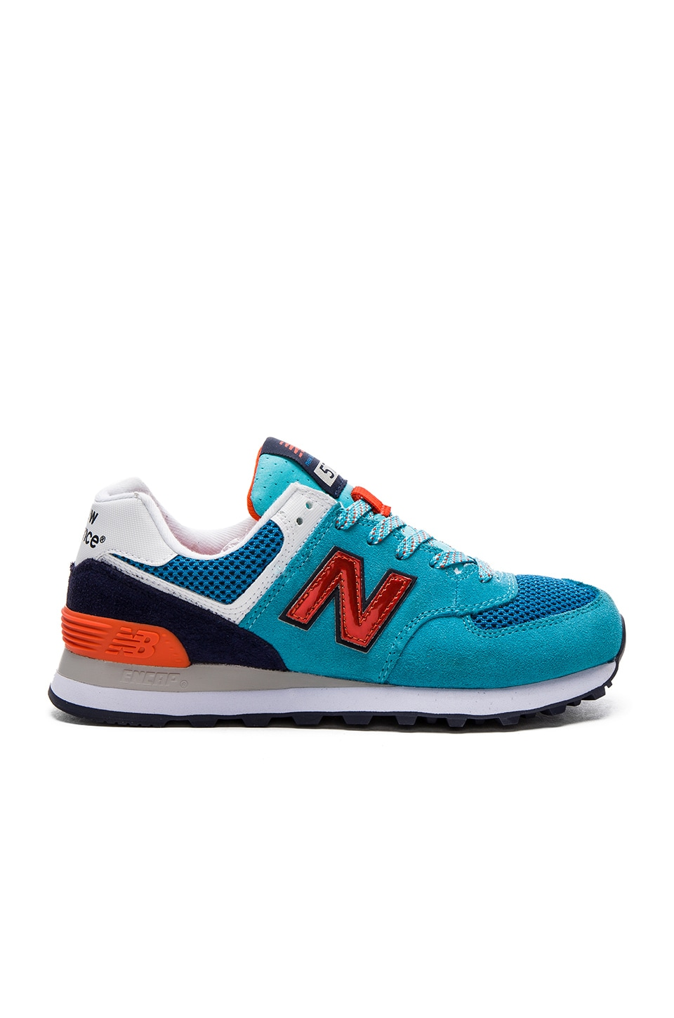New Balance 574 Summit Sneaker in Bayside & Fireball