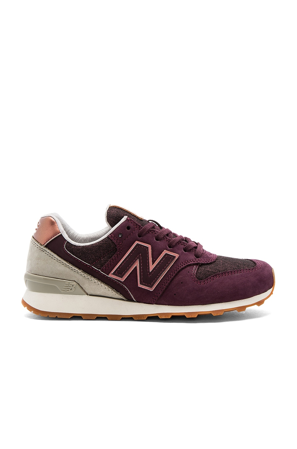 New Balance Grey Sneaker in Supernova Red & Husk